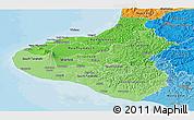 Political Shades Panoramic Map of Taranaki