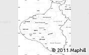 Blank Simple Map of Taranaki