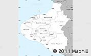 Gray Simple Map of Taranaki
