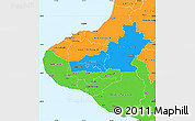 Political Simple Map of Taranaki
