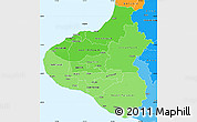 Political Shades Simple Map of Taranaki