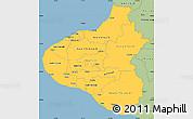 Savanna Style Simple Map of Taranaki