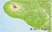 Physical 3D Map of South Taranaki