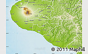 Physical Map of South Taranaki