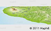 Physical Panoramic Map of South Taranaki