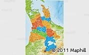 Political 3D Map of Waikato, physical outside