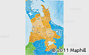 Political Shades 3D Map of Waikato