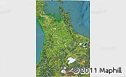 Satellite 3D Map of Waikato
