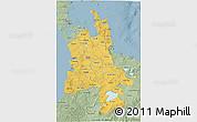 Savanna Style 3D Map of Waikato