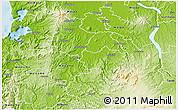 Physical 3D Map of Otorohanga