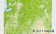 Physical Map of Otorohanga