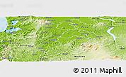 Physical Panoramic Map of Otorohanga