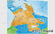 Political Shades Panoramic Map of Waikato
