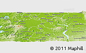 Physical Panoramic Map of Waipa