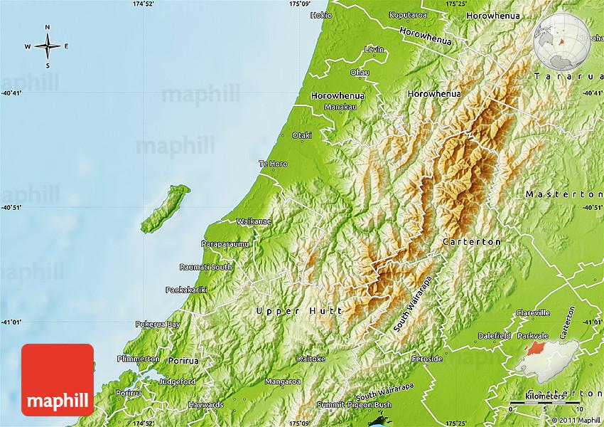 Physical Map of Kapiti Coast on king county map, southland map, fiordland map, lake tekapo map, rotorua map, palmerston north map, milford sound map, kaikoura map, waikato map, cook strait map, invercargill map, hastings map, island map, cambridge map, queenstown map, banks peninsula map, napier map, lyttelton map, akaroa map, dunedin map,