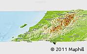 Physical Panoramic Map of Kapiti Coast