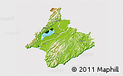 Physical 3D Map of South Wairarapa, cropped outside