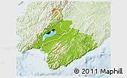 Physical 3D Map of South Wairarapa, lighten