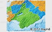 Political 3D Map of South Wairarapa