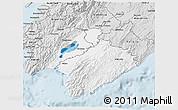 Silver Style 3D Map of South Wairarapa