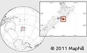 Blank Location Map of South Wairarapa