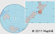 Gray Location Map of South Wairarapa