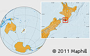 Political Location Map of South Wairarapa