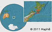 Satellite Location Map of South Wairarapa