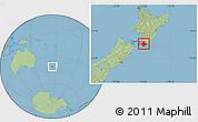 Savanna Style Location Map of South Wairarapa
