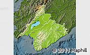 Physical Map of South Wairarapa, darken