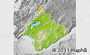 Physical Map of South Wairarapa, desaturated