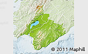Physical Map of South Wairarapa, lighten