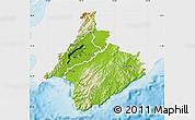 Physical Map of South Wairarapa, single color outside