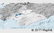 Gray Panoramic Map of South Wairarapa