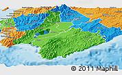 Political Panoramic Map of South Wairarapa
