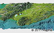 Satellite Panoramic Map of South Wairarapa