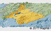Savanna Style Panoramic Map of South Wairarapa
