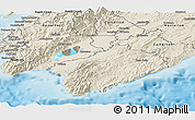 Shaded Relief Panoramic Map of South Wairarapa