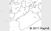 Blank Simple Map of South Wairarapa