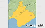 Savanna Style Simple Map of South Wairarapa