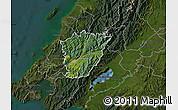 Satellite Map of Upper Hutt, darken