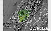 Satellite Map of Upper Hutt, desaturated