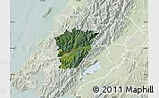 Satellite Map of Upper Hutt, lighten