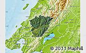 Satellite Map of Upper Hutt, physical outside