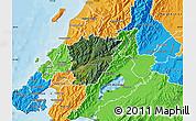 Satellite Map of Upper Hutt, political outside