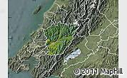 Satellite Map of Upper Hutt, semi-desaturated