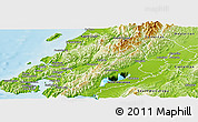 Physical Panoramic Map of Upper Hutt