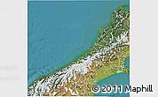 Satellite 3D Map of West Coast