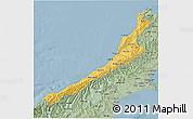 Savanna Style 3D Map of West Coast