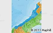 Political Shades Map of West Coast